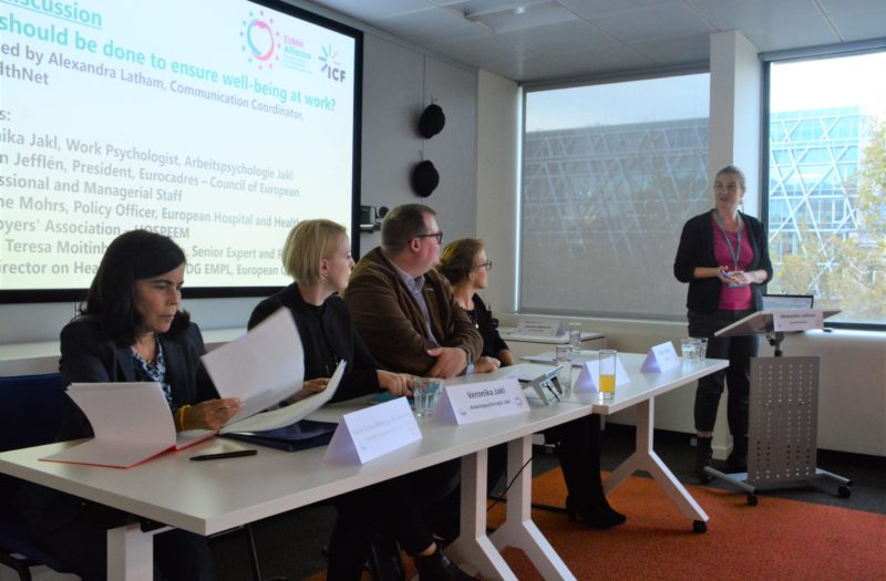 EU Mental Health Alliance- Employment and work capacity-building seminar: 'the Future of work and Mental Health', October 2019